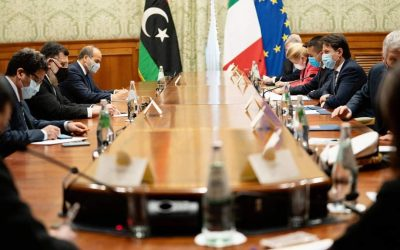 PM al-Sarraj meets Italian counterpart in Rome