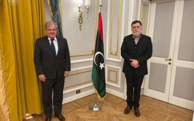 Al-Sarraj, Norland stress the need to stop negative intervention in Libya