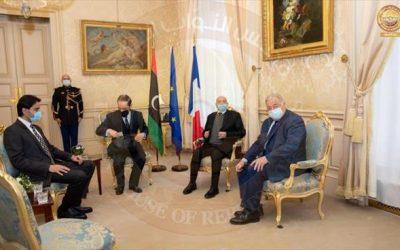 Aqila Saleh meets French officials in Paris