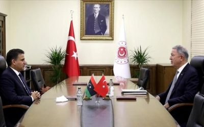 Al-Namroush meets with Akar to expand cooperation between Turkey and Libya