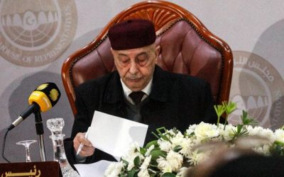 Head of Libyan parliament arrives in Cairo following invitation from Egyptian president