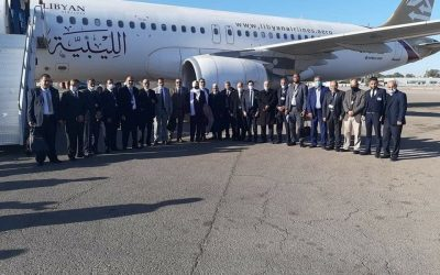 Symbolic Libyan Airlines first flight from Tripoli's Mitiga arrives at Benghazi's Benina airport