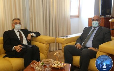 Minister Of Planning Meets UN Development Program Resident Representative. Gerardo Noto