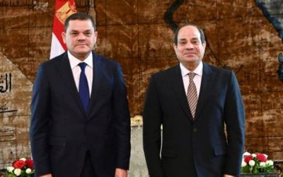 Sisi tells PM Dbeibeh Egypt ready to participate in implementing developmental projects in Libya