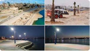 Tobruk Corniche construction project making visible progress