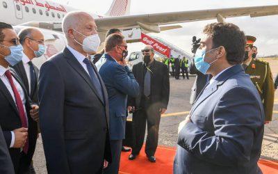 Tunisian President arrives in Tripoli