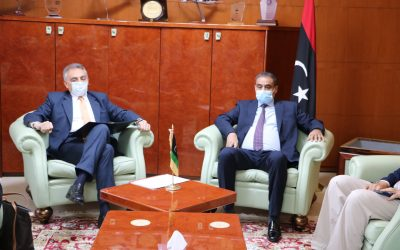 Minister of Transport holds discussions with Italian ambassador on methods to begin Tripoli airport project