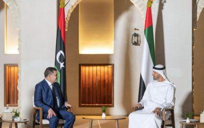 Sheikh Mohamed bin Zayed receives Libya's interim prime minister