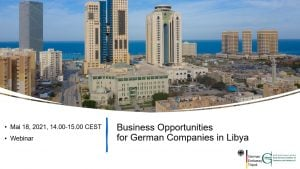 Webinar held involving over 80 German companies interested in Libyan market – energy, health and education dominated discussion