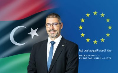 The European Union mission returns to work from its headquarters in Tripoli.